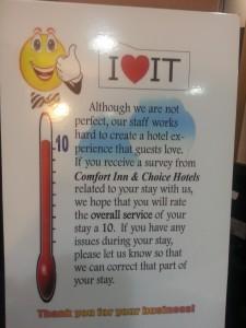 Comfort Rating